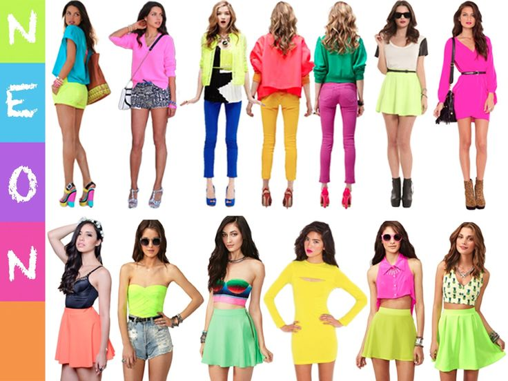80s Fashion Trends Women NEON FASHON TRENDS