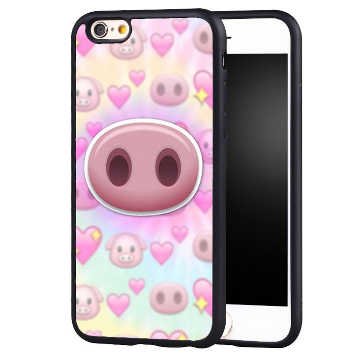 Funny Little Pig Emoji Printed Protective Soft Rubber Mobile Phone Cases For iPhone 6 6S Plus SE 5 5S 5C 4 4S Back Shell Cover //Price: $7.95 & FREE Shipping //     #hashtag2