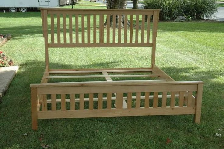 Mission style king bed plans woodworking projects plans for Mission style bed frame plans