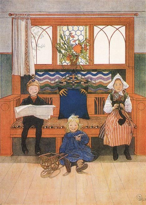 Carl Larsson - Father, Mother And Child Catalog