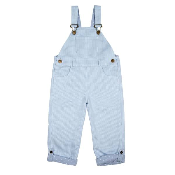 Pale Blue Stripe Dungarees | Dotty Dungarees