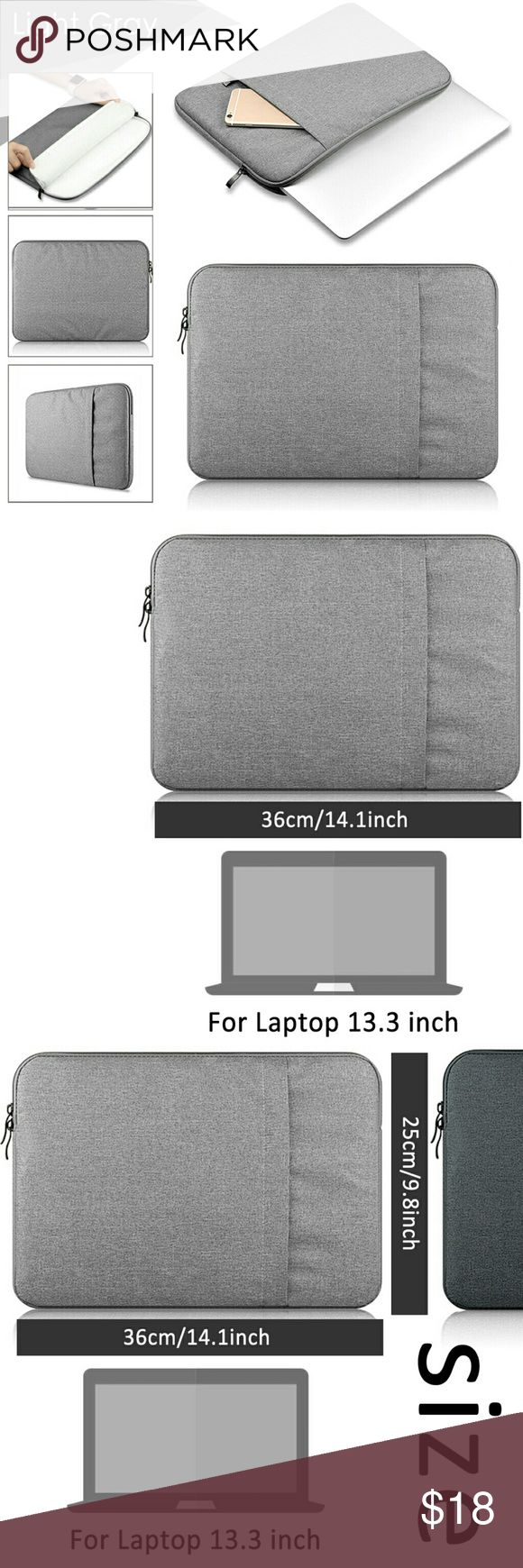 """13.3"""" MacBook Laptop Waterproof Case *BNIB* Compatibility all 13-13.3 inches laptop computers  - For Apple Macbook Pro 13.3-inch with Retina display, MacBook Air 13-inch, MacBook pro 13-inch / 13.3 inch Laptop  - Also Fits laptops with Display size 13-13.3-inch like: for MacBook, Samsung, HP, Acer, ASUS, Lenove, Dell, Toshiba, Sony and others   *ADDITIONAL SPECS IN PHOTO #8* MacBook Accessories Laptop Cases"""