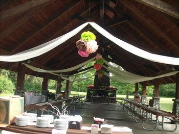 decorating+pavilion+for+weddings | This is what out pavilion looked like all dressed up! (the cake is ...