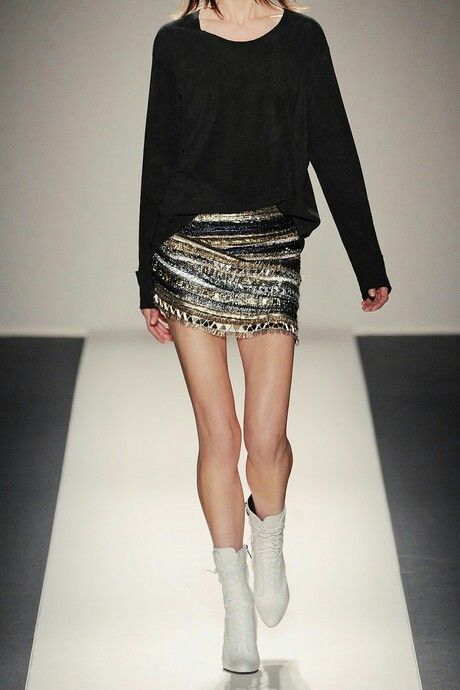 Love the glamorized stratum skirt in this picture... all have been sprinkled with Rocker-Chick-Chic