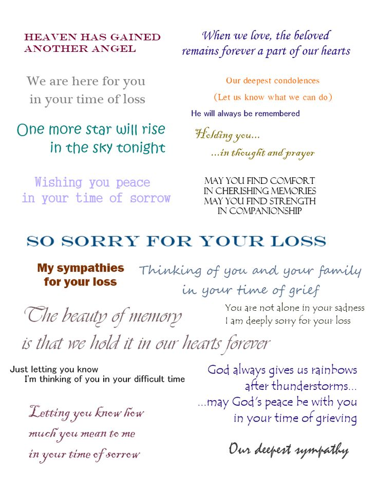 133 best Notes/Cards images on Pinterest Birthday sentiments - funeral words for cards