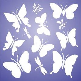 Stencils for Walls' Butterflies Stencil is the all in one stencil for your little girl's bedroom decor. Cheap, easy to use and very effective. Stencilling is a versatile and exciting way to accessorize on any flat surface of your choice. Our stencils produce high quality designs with minimum fuss.
