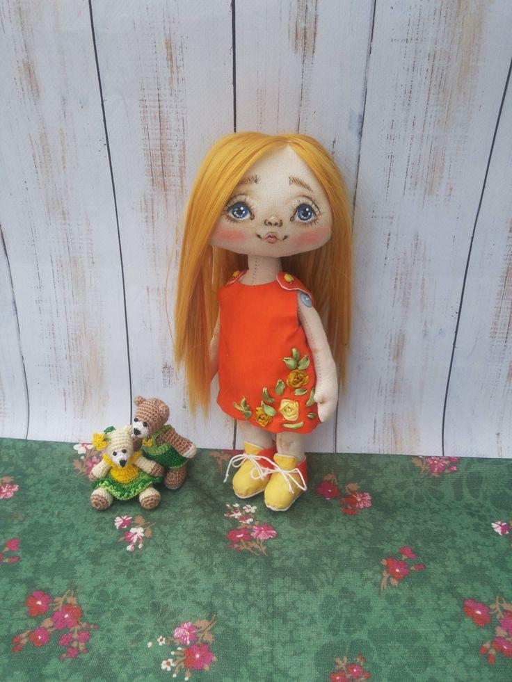 Textile doll, decorative doll,collectible dolls, doll cotton, rag doll, art doll by Savkota on Etsy