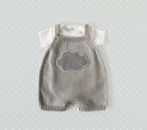 inmyclosetgr:  Knitted overalls in gray with a cloud. 100%...