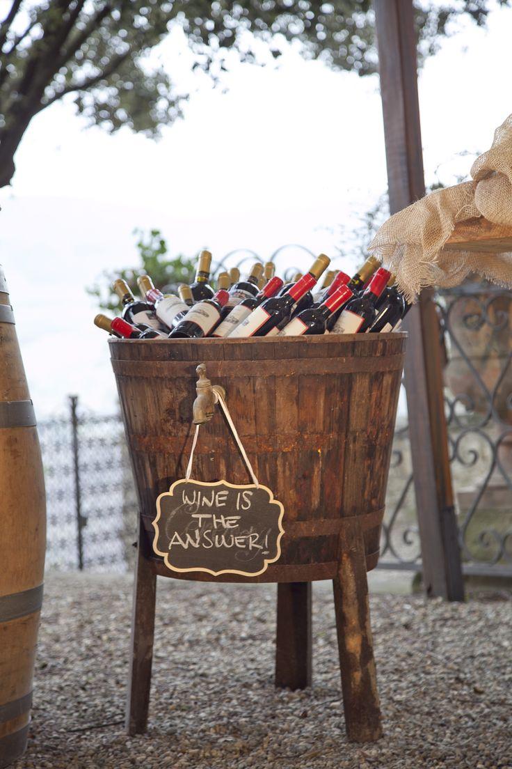 Drink Station, wine station at Castello Vicchiomaggio