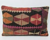 16x24 society kilim pillow cottage lumbar pillow online throw pillow turkish floor pillow wool modern throw pillow stripe pillow cover 26141