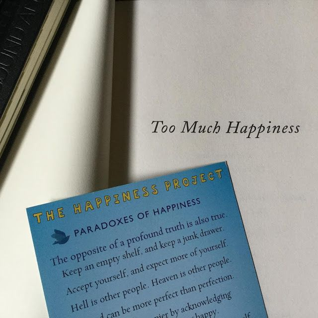 guiltless reading: #BookmarkMonday: Too Much Happiness