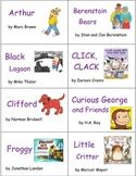 Classroom Library Book and Box Labels BOOK COLLECTIONS SET
