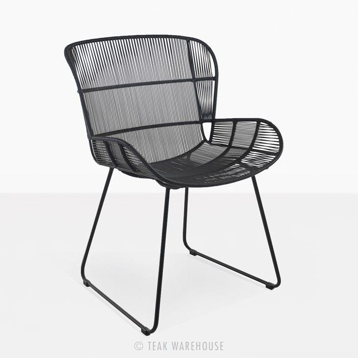 Nairobi Woven Dining Arm Chair Black