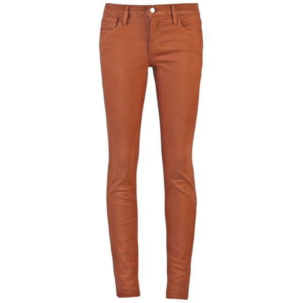 JOE'S JEANS THE SKINNY JEAN ($150) ❤ liked on Polyvore featuring jeans, pants, pantalones, bottoms, skinnys, brown skinny jeans, skinny leg jeans, brown jeans, button fly jeans and cut skinny jeans