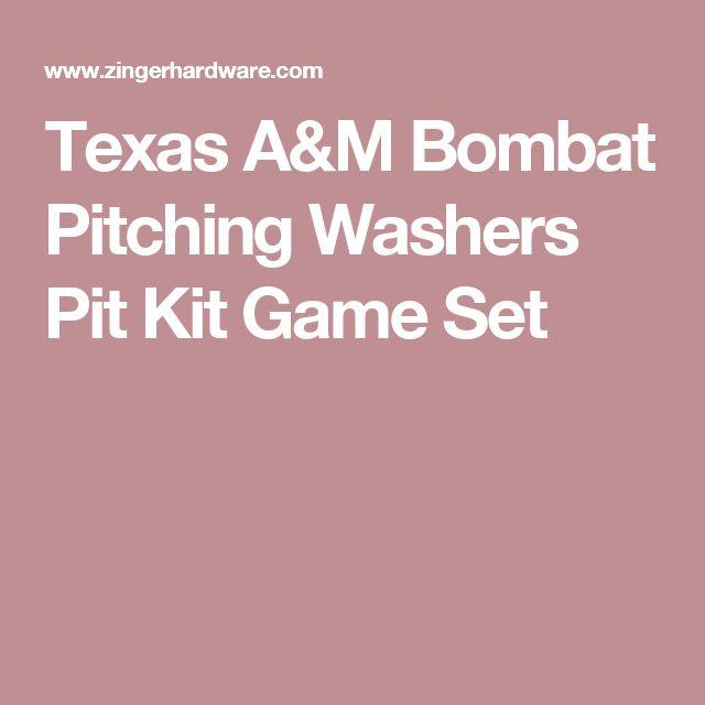 Texas A&M  Bombat Pitching Washers Pit Kit Game Set