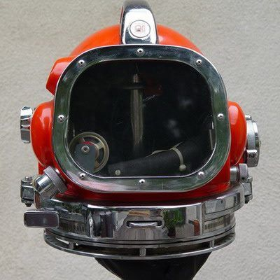 Hard Hat Diving Equipment | ... Dive Company) Commercial Diving Company 'hat'/helmet.  The photo