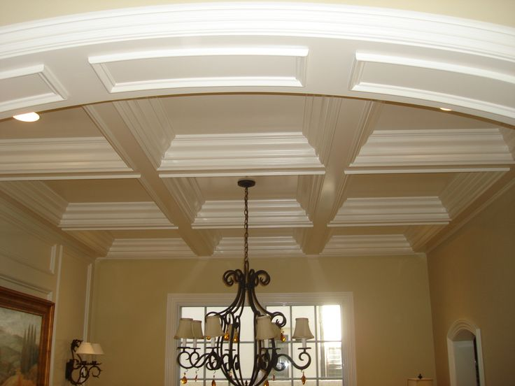 17 best images about coffered ceilings on pinterest dark for Coffered ceiling paint ideas