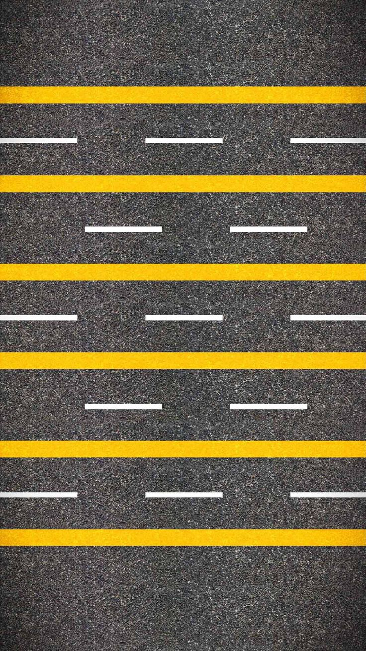 ↑↑TAP AND GET THE FREE APP! Shelves Highway Grey Yellow Road Markings Minimalistic HD iPhone 6 plus Wallpaper