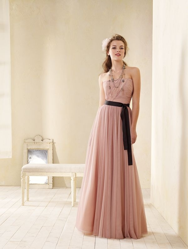 36 best Vintage style Pink/ Brown Bridesmaid Dresses images on ...