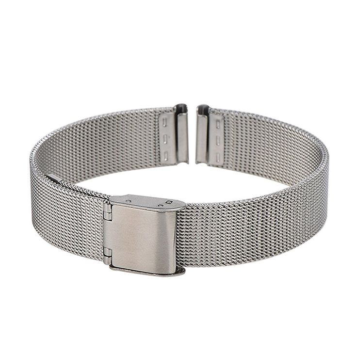 Amazon.com: Xuexy 14mm Pebble Time Round Milanese Wire Mesh Stainless Steel Watch Band Strap Replacement Bracelet, Silver: Cell Phones & Accessories