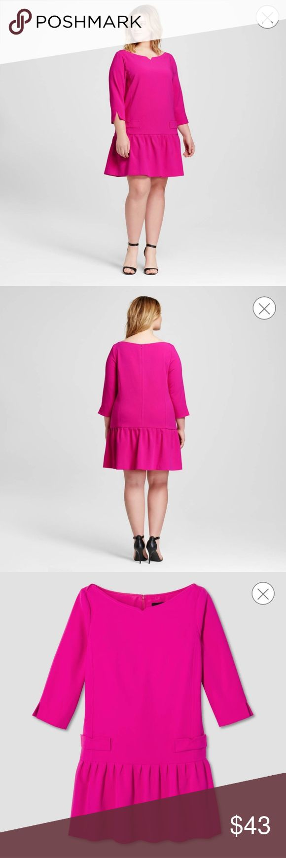 Victoria Beckham For Target Dress Women's plus fuchsia jacquard drop waist dress. 💕 Victoria Beckham for Target Dresses Mini