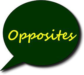 English vocabulary - List of Opposites (List N°1)