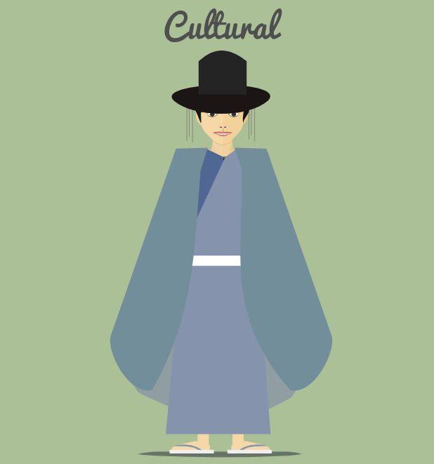 south korea character   flat design character