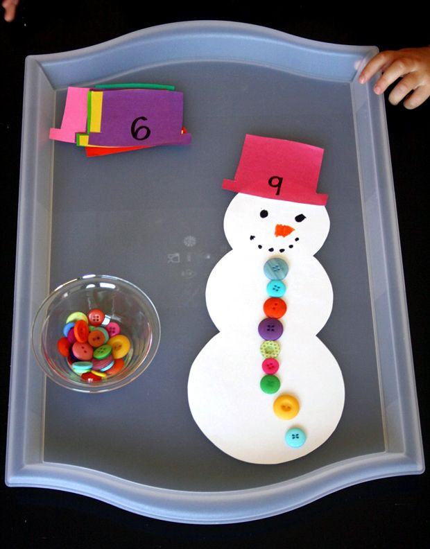 Snowman Math & Counting Game