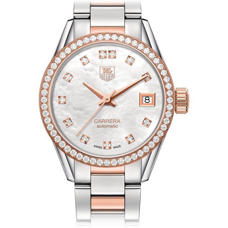 Tag Heuer Carrera steel, diamond and rose gold women's watch is a bedazzling timepiece. $6,950 from Paul's Fine Jewelry, 600 Silverstone at Camellia, (337) 981-7600, and 320 Oil Center Dr., (337) 233-6975, Lafayette.