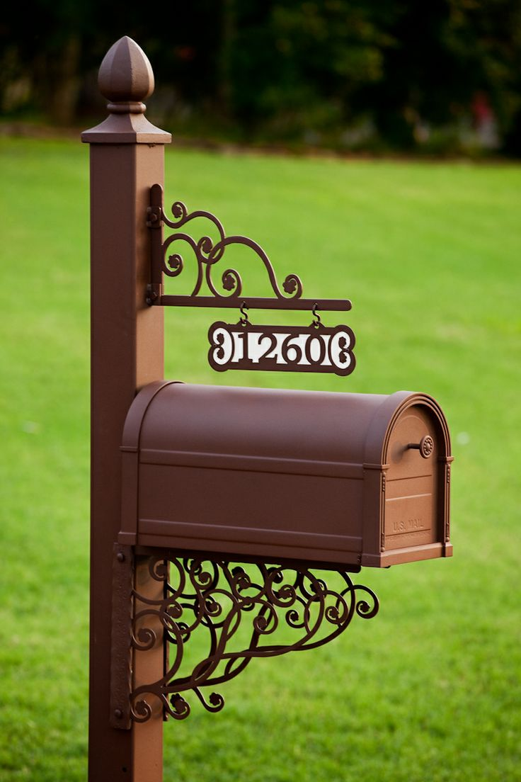 Mailboxes and Posts http://alabamametalart.com/products/personalized-decorative-mailbox-4INPRM.php