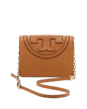 All+T+Pebbled+Crossbody+Bag,+Bark+by+Tory+Burch+at+Neiman+Marcus.
