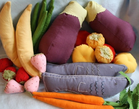 handmade cotton play food