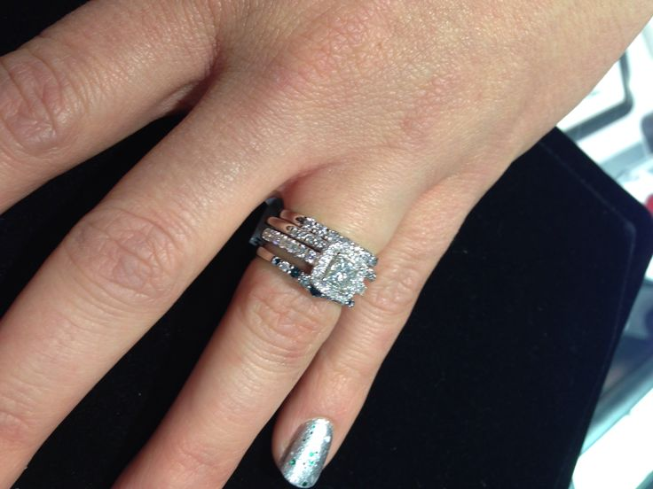 Canadian Ice Engagement Ring And Stacked Mismatched Wedding Bands Having Fun At Rogers Hollands Southridge Mall