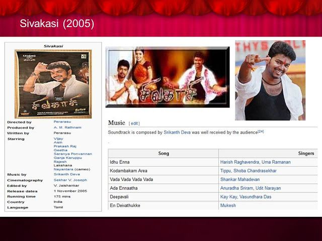 Tamil actors career path: Movie # 43 Sivakasi  (2005)