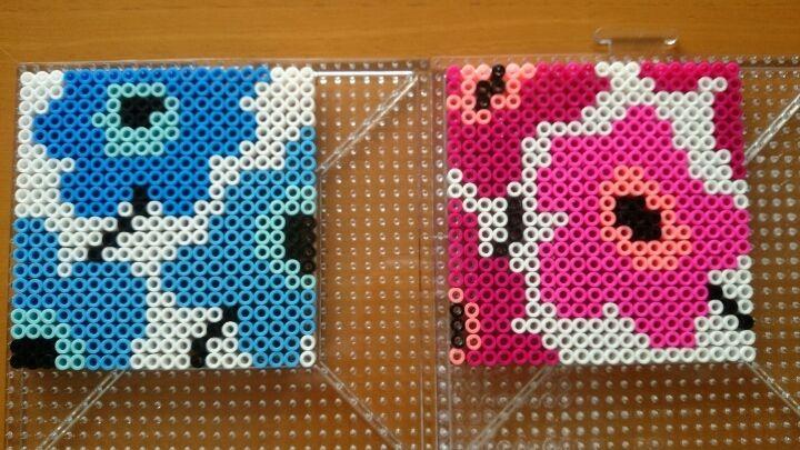 Inspired Unikko Marimekko coasters perler beads