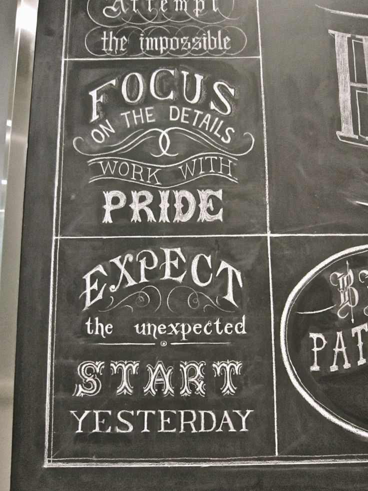 Kraft Foods Canada Lettering, Chalk lettering, Office