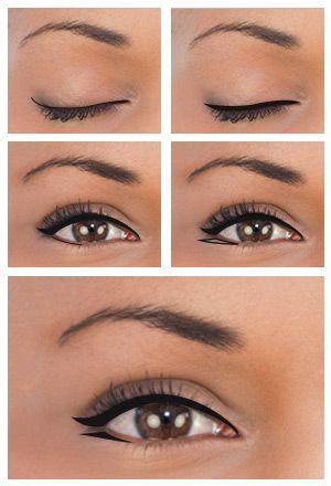 Winged Eyeliner for Close-set Eyes