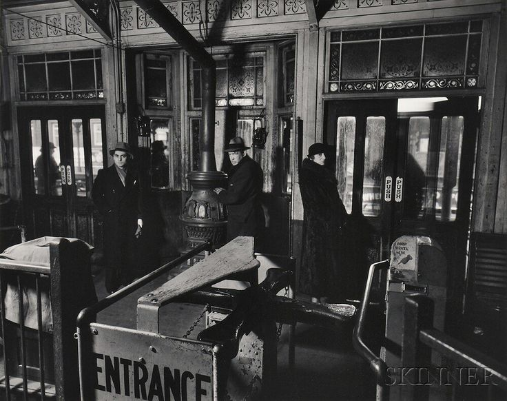 Berenice Abbott (American, 1898-1991) 'El Station: Sixth and Ninth Avenue Lines, Downtown Side, 1936. | Auction 2930B | Lot 140 | Sold for $2,952