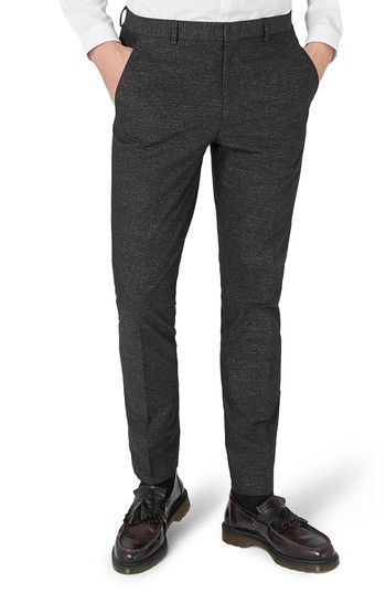 TOPMAN SKINNY FIT STRIPE COTTON SUIT PANTS. #topman #cloth #