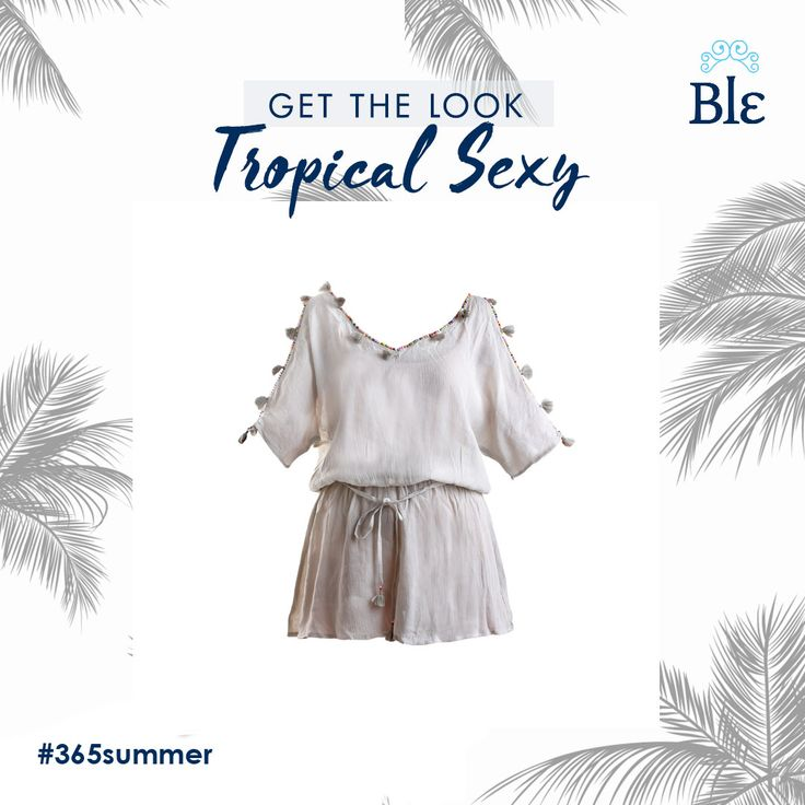 Kaftans and short dresses in white and earthly colours, with impressive details such as little pompons, and charming cuts to show off your shoulders! Our new Tropical collection is full of simple yet powerful pieces, ready to take over your spring-summer wardrobe! Get the look here www.ble-shop.com
