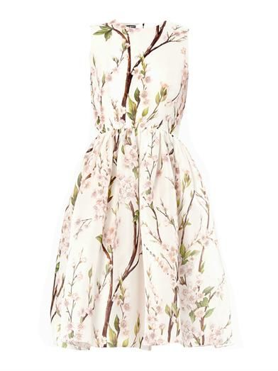 Almond blossom-print dress | Dolce & Gabbana | MATCHESFASHION.COM