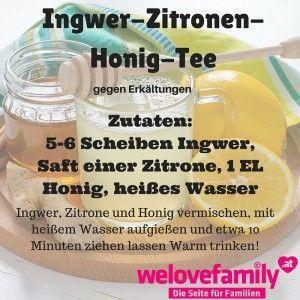 ingwer-zitronen-honig-tee gegen erkältungen