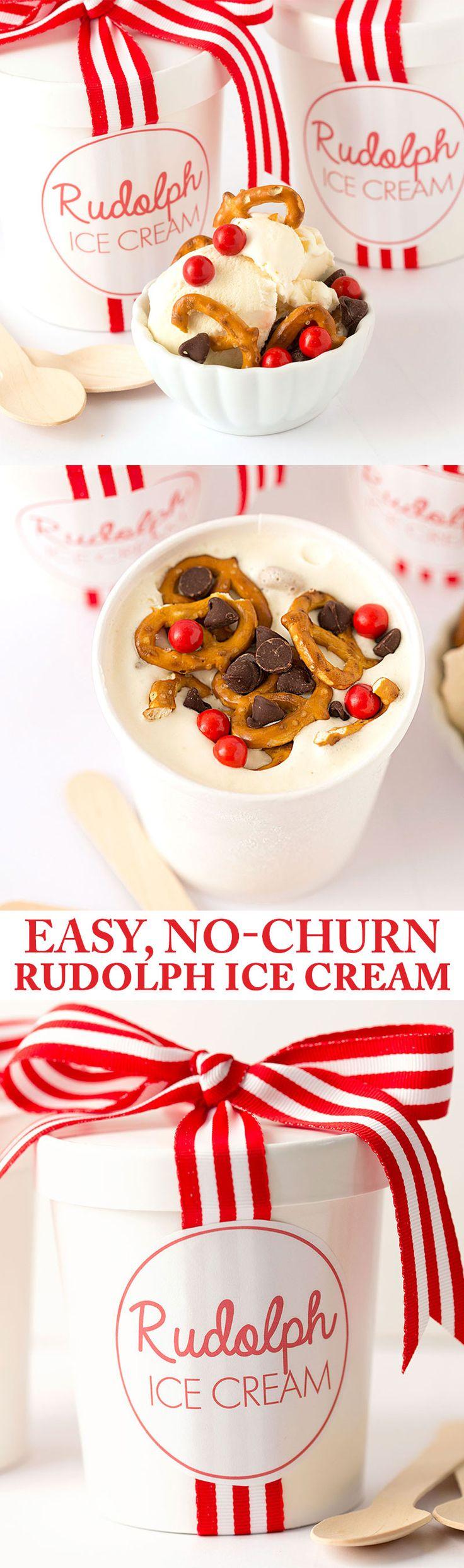 No-Churn Rudolph Ice Cream   Recipe at Pizzazzerie.com