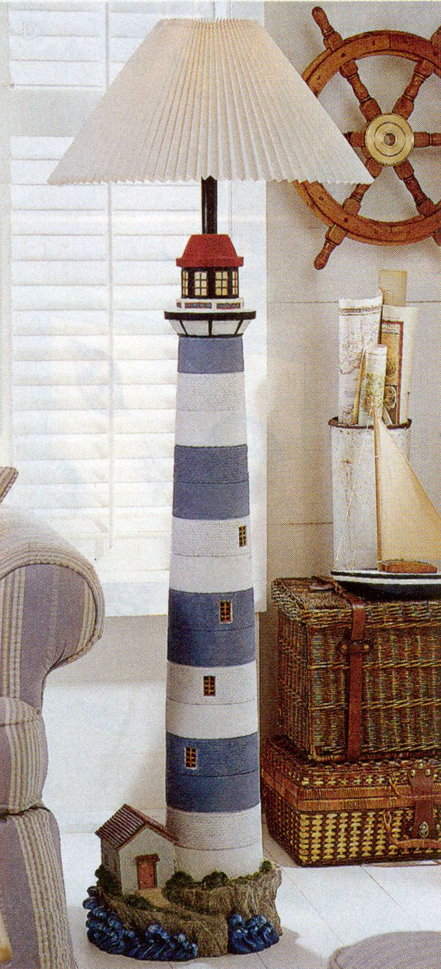 Lighthouse decor for bathroom - Lighthouse Floor Lamp From Domestications Ohh My God Samantha This Home Sweet Home