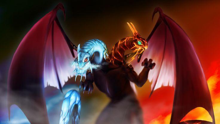 Stunning jakiro twin head dragon dota 2 art 69 HD Anime Wallpaper « Kuff Games