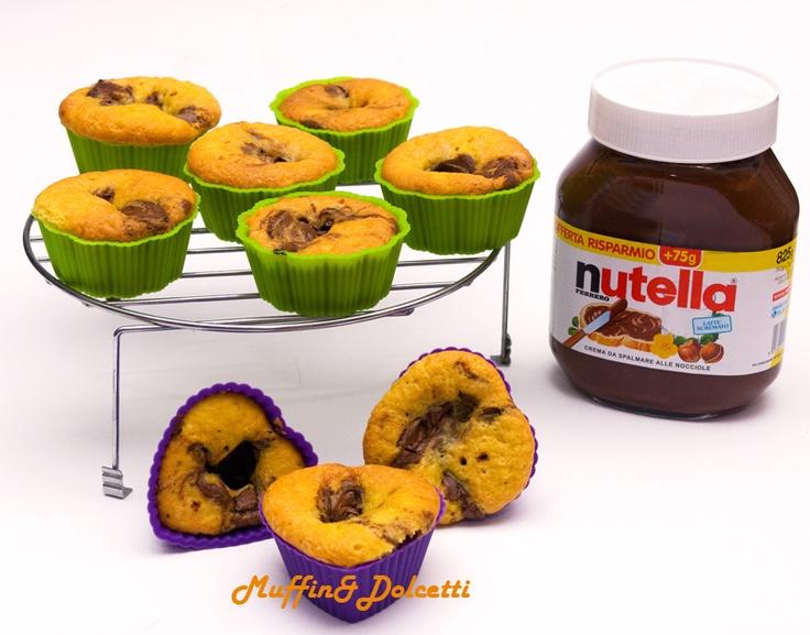 Cupcake con Nutella! Per la videoricetta clicca qui: http://youtu.be/GeEDd2byqVY    Cupcake with Nutella! For the recipe click: http://youtu.be/GeEDd2byqVY