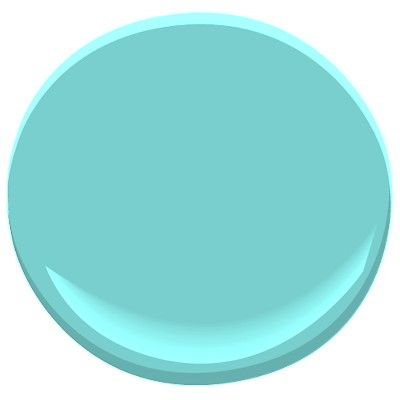 Mexicali Turquoise - Benjamin Moore.  This site is amazing for navigating and see up close all their colors...just pick your shade of colors and mouse over to see name of color or click to enlarge.