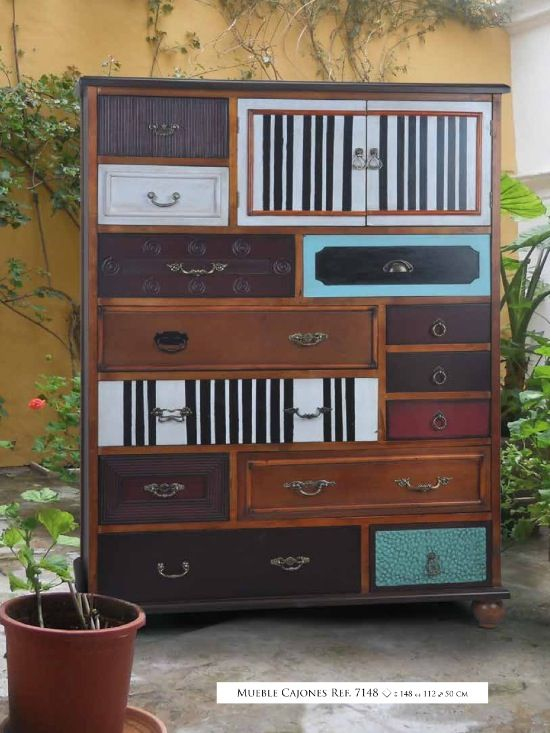 43 best muebles vintage images on pinterest cabinets for Muebles con cajones