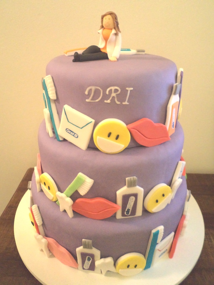 Cake Design Dentista : Bolo de pasta americana, tema: dentista. Ck - Cake ...