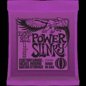Ernie Ball – 2220 – Power Slinky. Per chitarra elettrica Avvolgitura in acciaio nichelato – Scalatura .011-.014-.018p-.028-.038-.048